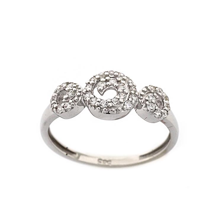 Λευκόχρυσο Δαχτυλίδι Κ14 DX185