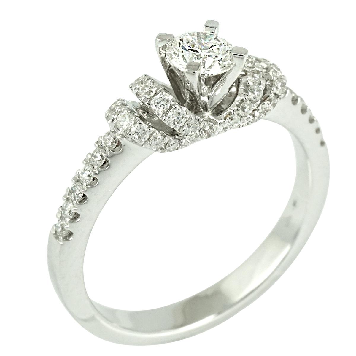 Μονόπετρο Δαχτυλίδι K18 με Διαμάντια Brilliant DDX101