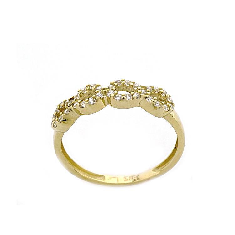 Κίτρινο Χρυσο Δαχτυλίδι Κ14 DX187