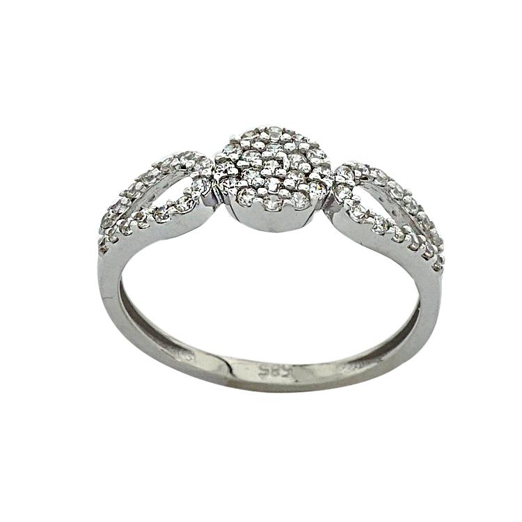 Λευκόχρυσο Δαχτυλίδι Κ14 DX190