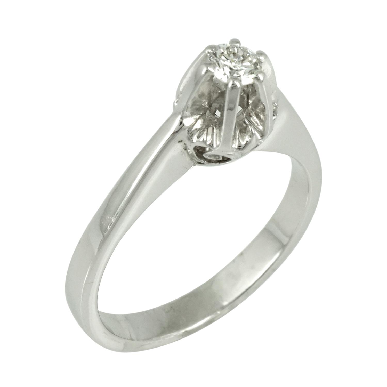 Μονόπετρο Δαχτυλίδι Κ18 με Διαμάντι Brilliant D2078