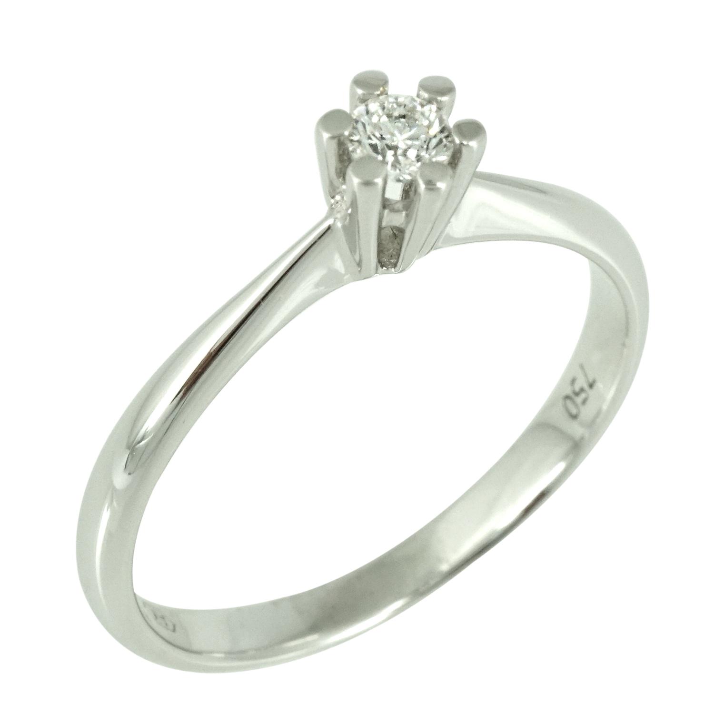 Μονόπετρο Δαχτυλίδι Κ18 με Διαμάντι Brilliant D2044