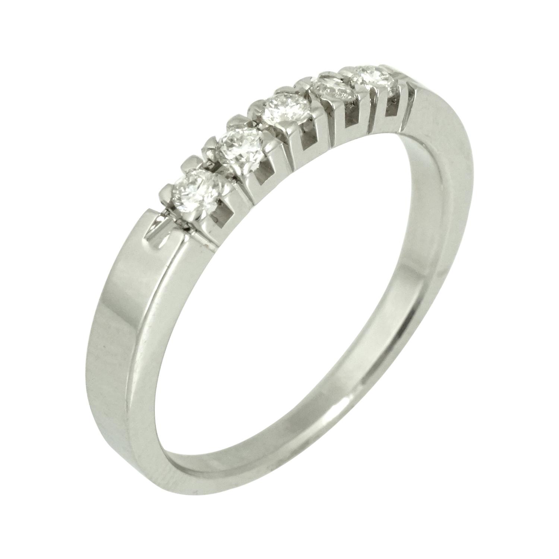 Λευκόχρυσο Σειρέ Δαχτυλίδι Κ18 με Δαμάντια Brilliant DO435