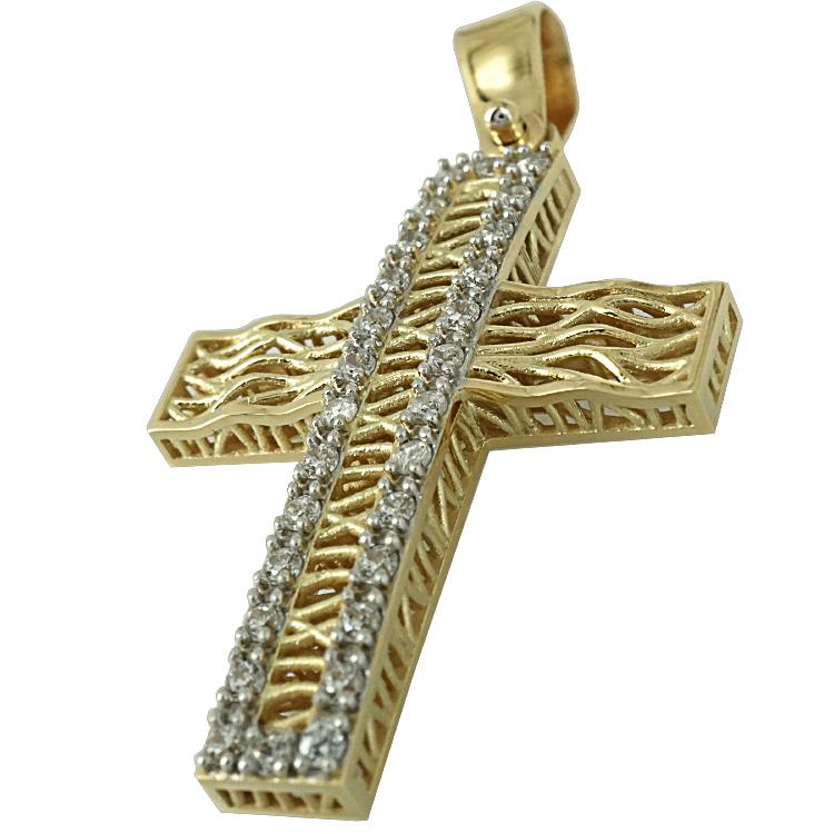 Σταυρός Βάπτισης 14Κ Κίτρινος Χρυσός Γυναικείος ST1593
