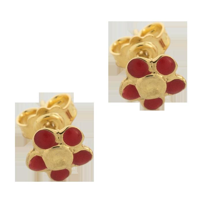 Παιδικά Σκουλαρίκια Μαργαρίτες Από Χρυσό K14 PSK101