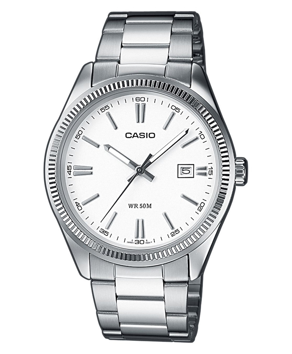 CASIO Collection Stainless Steel Bracelet Black White MTP-1302PD-7A1VEF