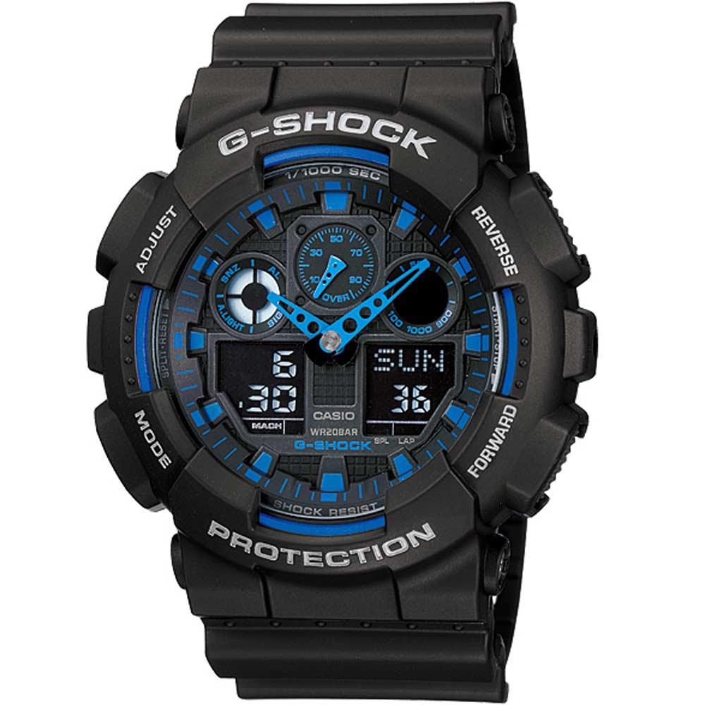 CASIO G-SHOCK Anadigi Black Rubber Strap GA-100-1A2ER