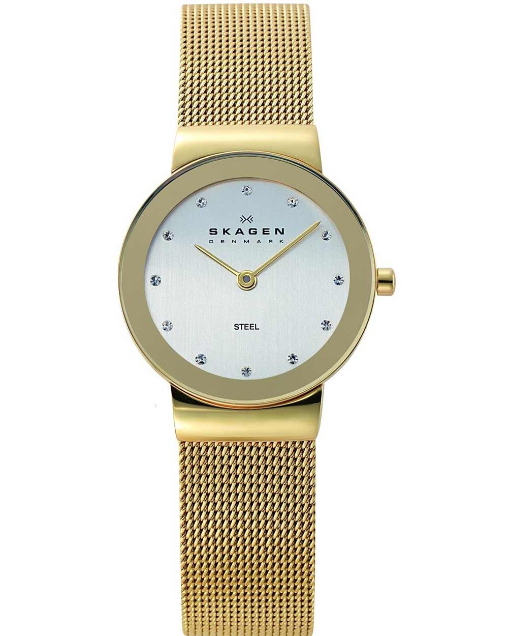 SKAGEN Ladies Mesh Gold Stainless Steel Bracelet 358SGGD