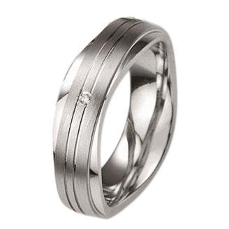 Ασημένια Βέρα Γάμου Breuning με ή χωρίς Πέτρες WRS240 diamonds