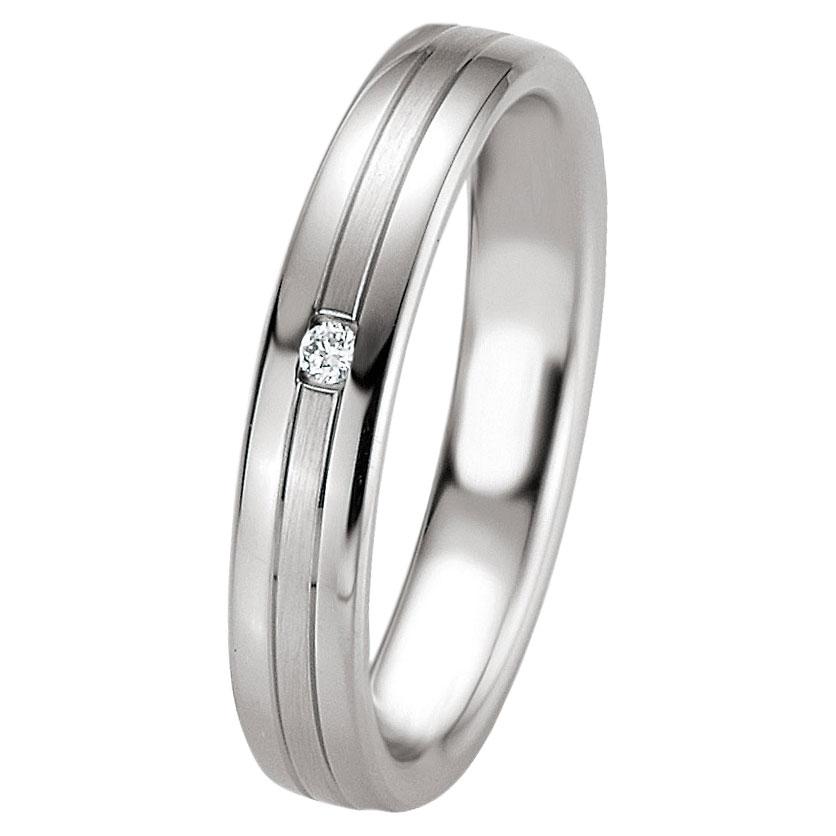 Ασημένια Βέρα Γάμου Breuning με ή χωρίς Πέτρες WRS233 diamonds