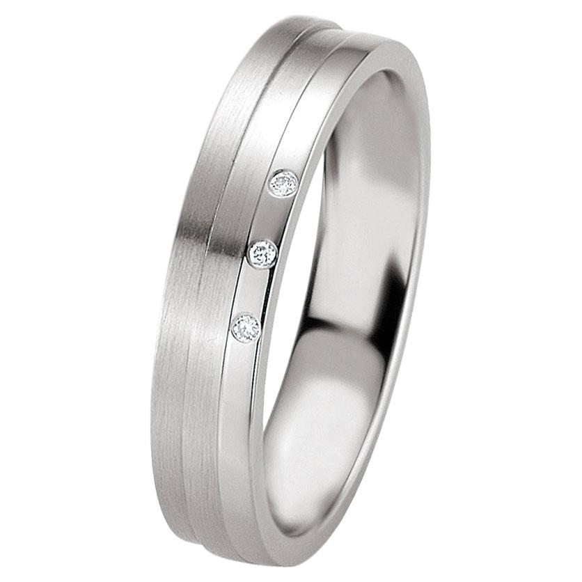 Ασημένια Βέρα Γάμου Breuning με ή χωρίς Πέτρες WRS234 diamonds