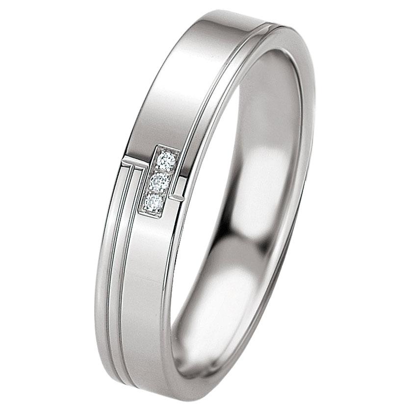 Ασημένια Βέρα Γάμου Breuning με ή χωρίς Πέτρες WRS232 diamonds