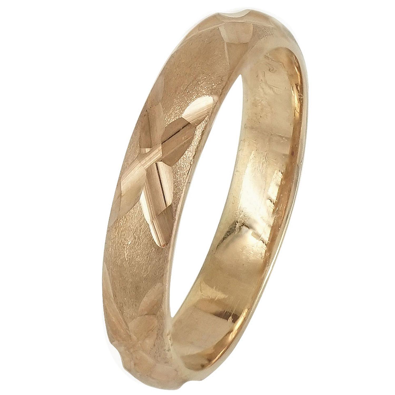 Ασημένια Βέρα Γάμου με Ροζ Επιχρύσωμα WRS227R