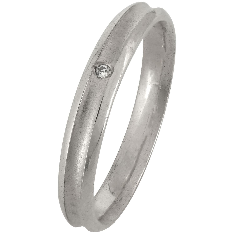 Ασημένια Βέρα Γάμου με ή χωρίς Πέτρες WRS172W