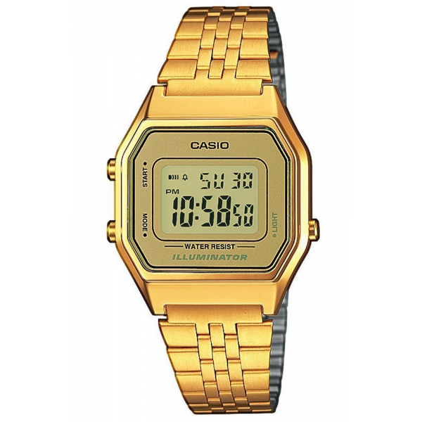 CASIO Collection Gold Stainless Steel Bracelet LA-680WEGA-9ER