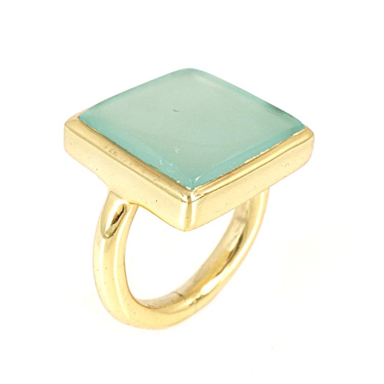 Ασημένιο Επιχρυσωμένο Δαχτυλίδι με Ορυκτή Πέτρα DX267