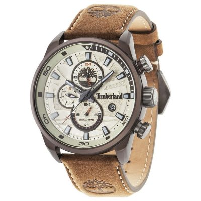 TIMBERLAND Henniker Multifunction Beige Leather Strap 14816JLBN-07