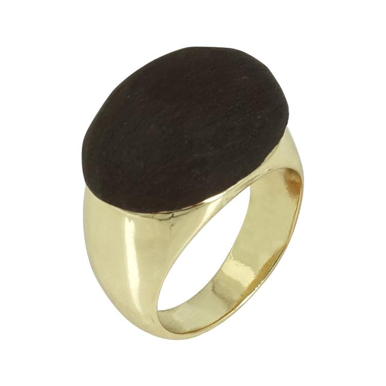 Luxenter Δαχτυλίδι από Επιχρυσωμένο Ατσάλι LUX122