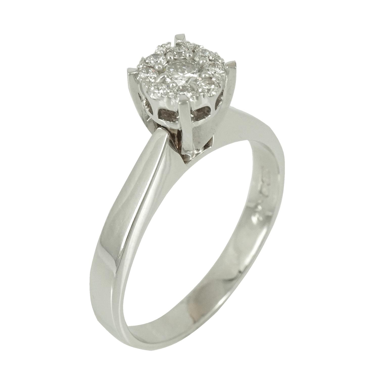 Μονόπετρο Δαχτυλίδι Κ18 με Διαμάντια Brilliant D36301