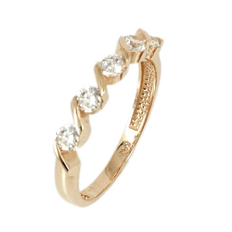 Ροζ Χρυσό Σειρέ Δαχτυλίδι Κ14 DX69854