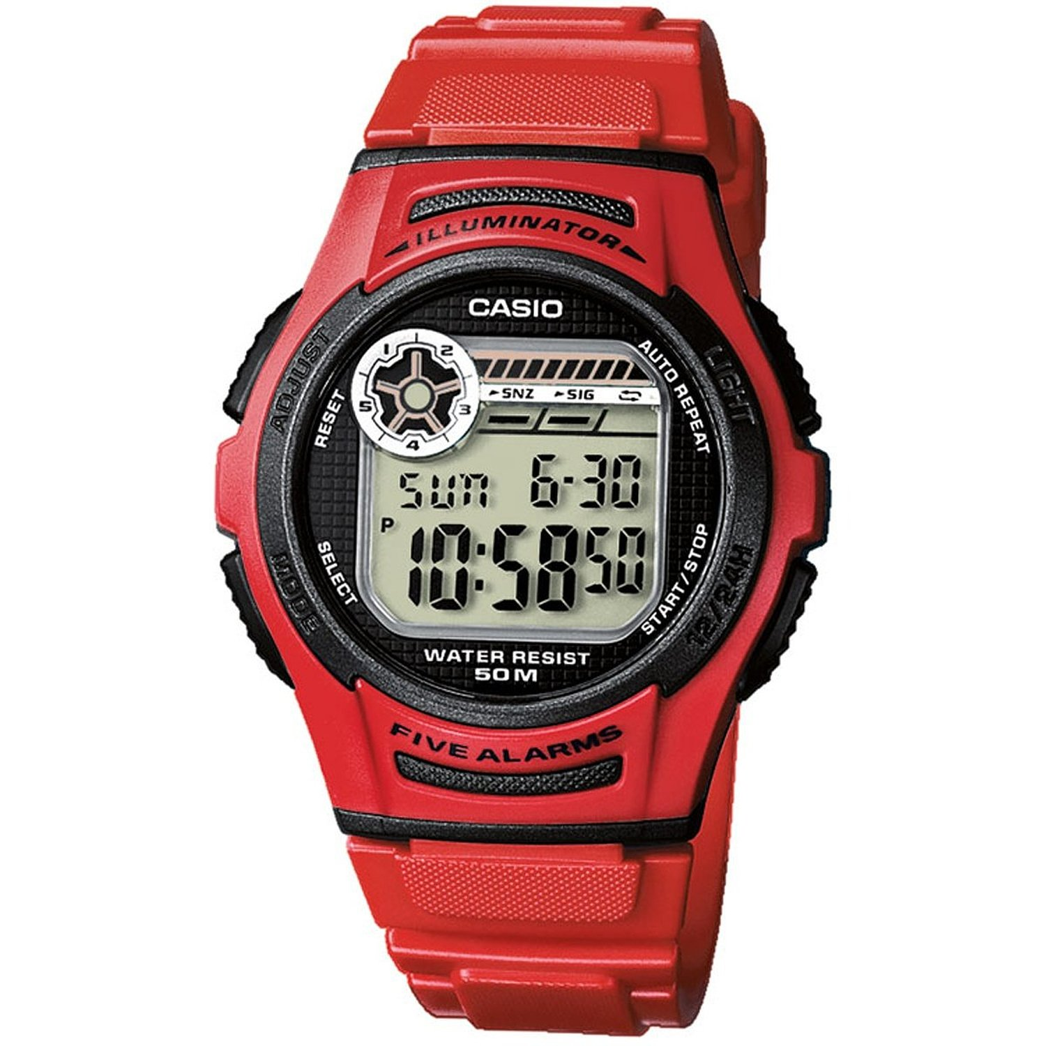 CASIO Sport Collection Red Rubber W-213-4AVE