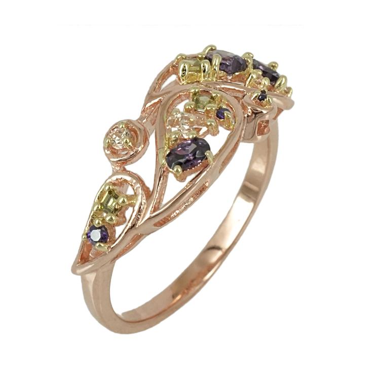 Jools Ασημένιο Ροζ Επιχρυσωμένο Δαχτυλίδι JR748.3