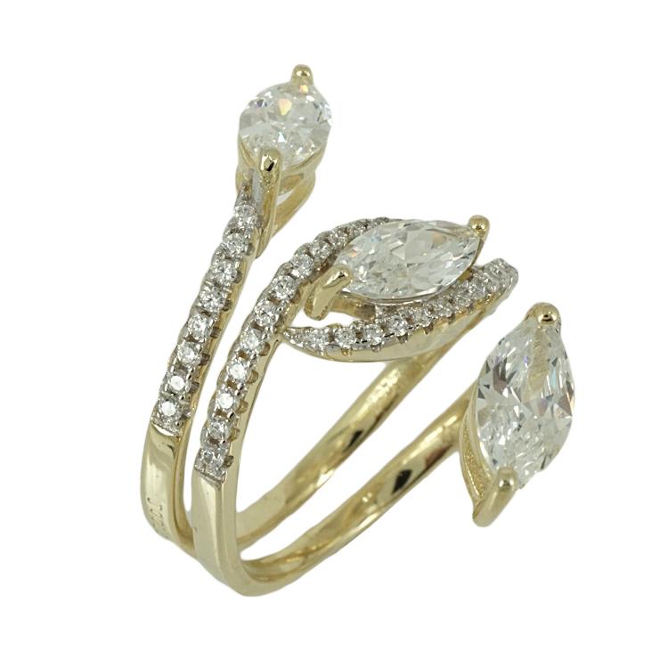 Jools Ασημένιο Επιχρυσωμένο Δαχτυλίδι JR767.2