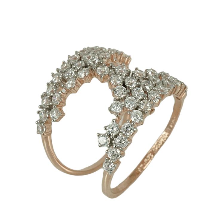 Jools Ασημένιο Ροζ Επιχρυσωμένο Δαχτυλίδι TR908037.1