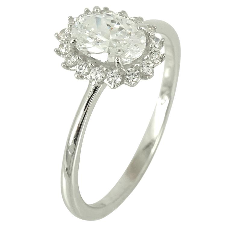 Λευκόχρυσο Δαχτυλίδι Ροζέτα K14 DX73671
