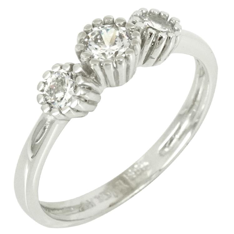 Λευκόχρυσο Δαχτυλίδι Κ14 DX293