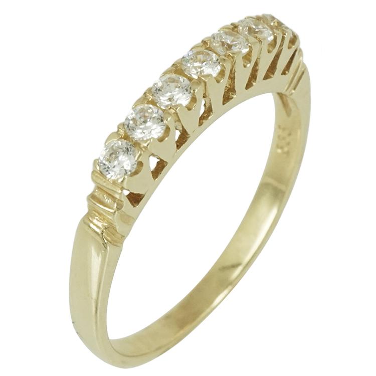 Κίτρινο Χρυσό Σειρέ Δαχτυλίδι Κ14 DX296