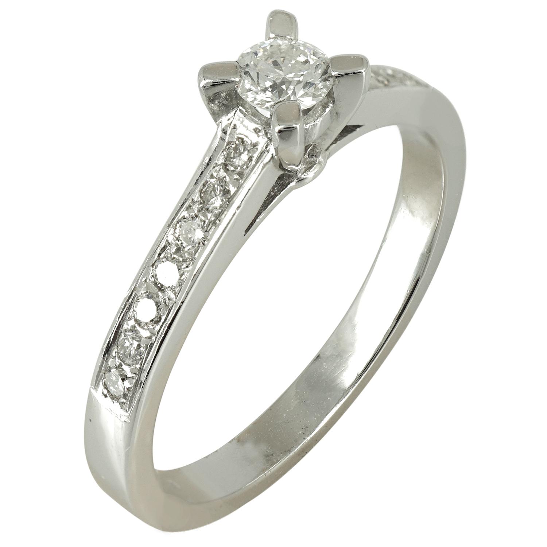 Μονόπετρο Δαχτυλίδι Κ18 με Διαμάντια Brilliant DDX112