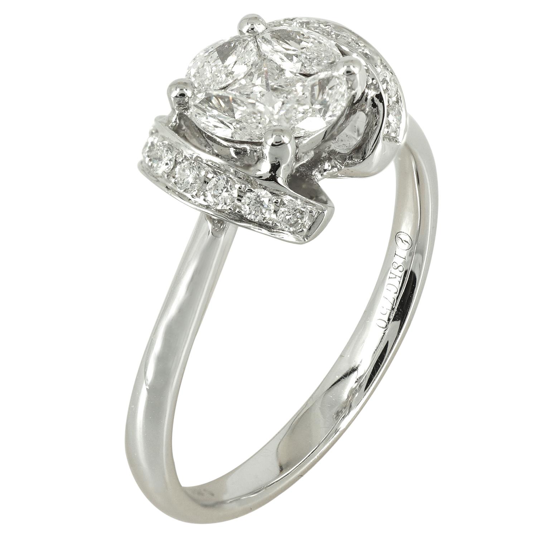 Μονόπετρο Δαχτυλίδι Κ18 με Διαμάντια Brilliant DDX118