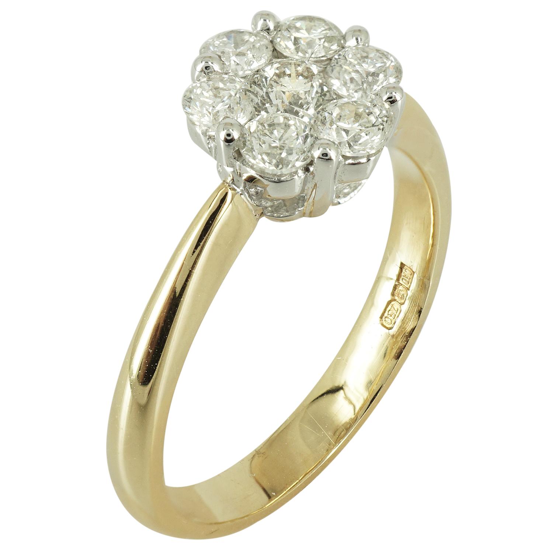 Μονόπετρο Δαχτυλίδι Κ18 με Διαμάντια Brilliant DDX121