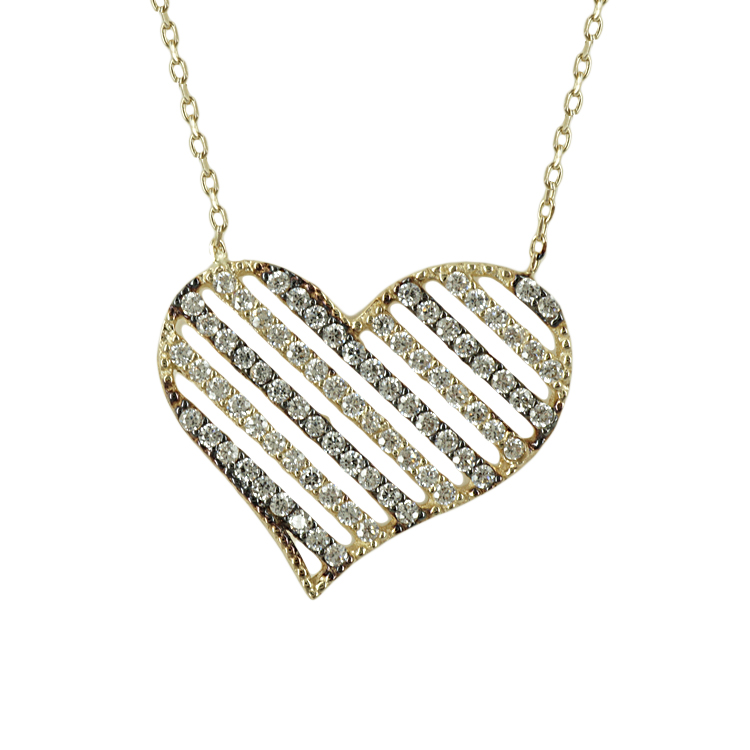 Κίτρινο Χρυσό Κολιέ Καρδιά Κ14 KL342
