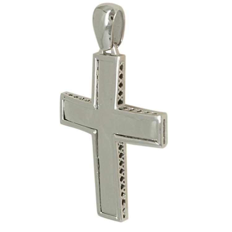 Σταυρός Βάπτισης 14K Λευκόχρυσος Ανδρικός ST1721