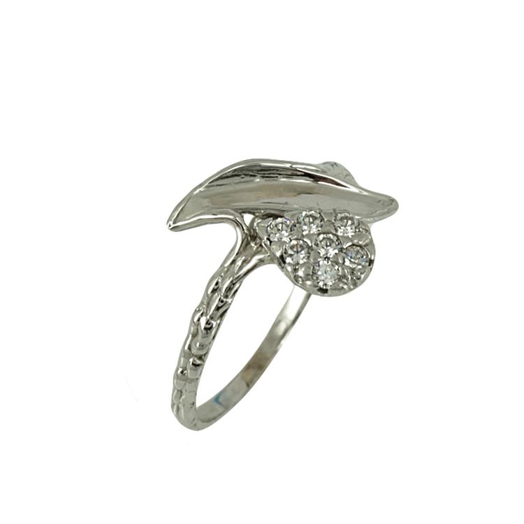 Λευκόχρυσο Δαχτυλίδι Κ14 DX357
