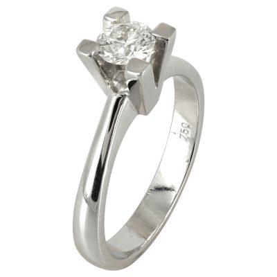 Μονόπετρο Δαχτυλίδι Κ18 με Διαμάντι Brilliant D57015 4e1913b2db8