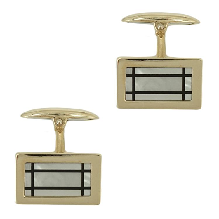 Κίτρινα Χρυσά Μανικετόκουμπα Κ14 MANK141