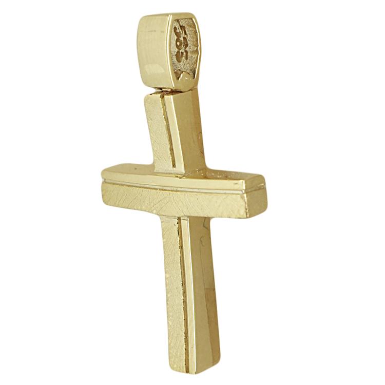 Σταυρός Βάπτισης 14K Κίτρινος Χρυσός Ανδρικός ST1761