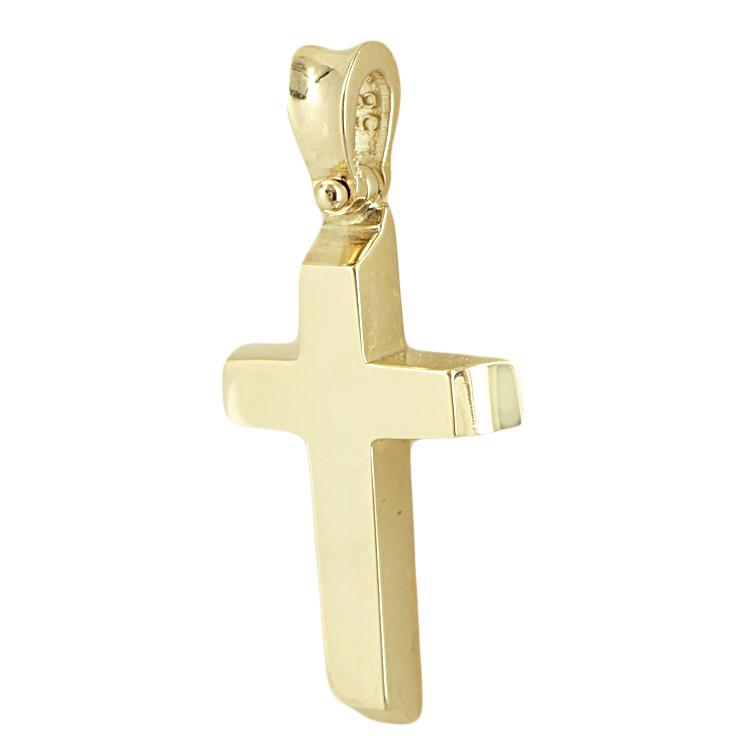Σταυρός Βάπτισης 14K Κίτρινος Χρυσός Ανδρικός ST1792
