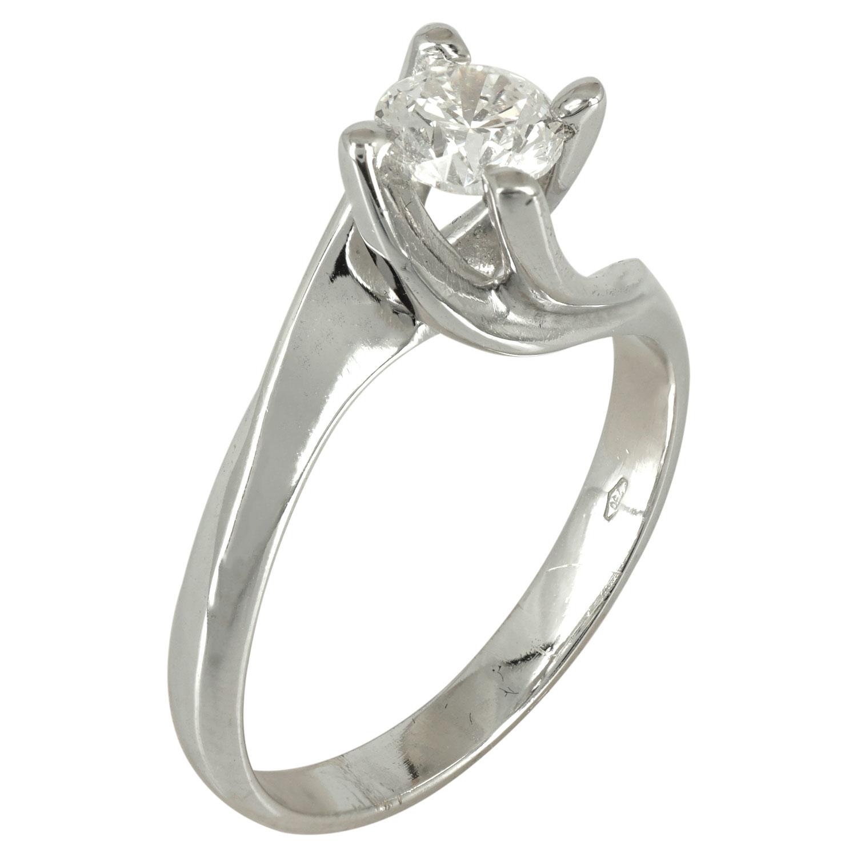 Μονόπετρο Δαχτυλίδι Κ18 με Διαμάντι Brilliant VZW026