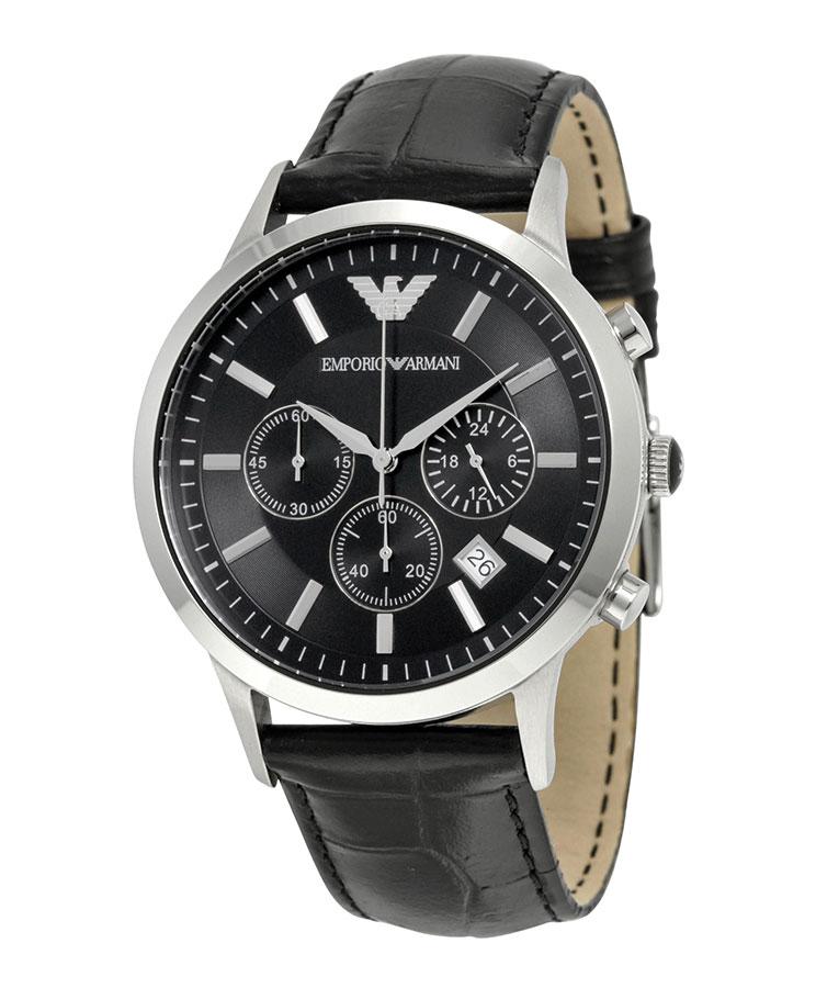 EMPORIO ARMANI Chronograph Black Dial Men's Watch AR2447