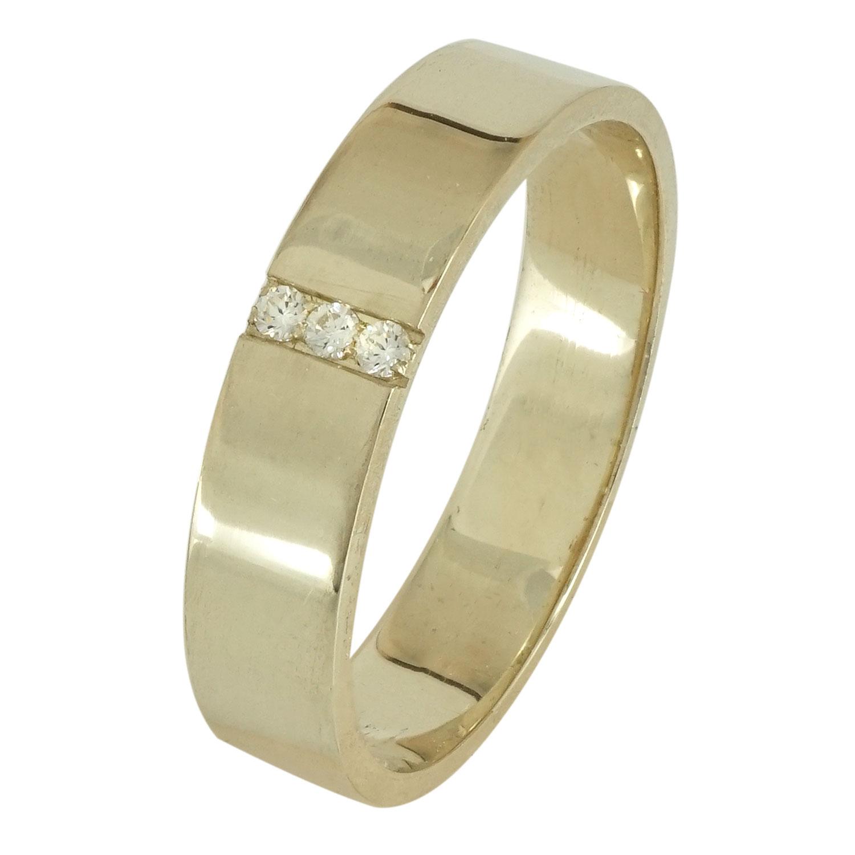Κίτρινη Χρυσή Βέρα Γάμου με ή χωρίς Πέτρες WR101 k18 xoris_petra