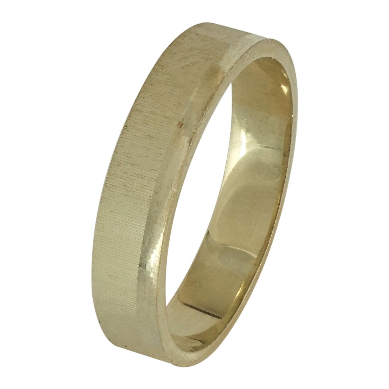 Κίτρινη Χρυσή Βέρα Γάμου WR107 k18