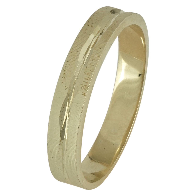 Κίτρινη Χρυσή Βέρα Γάμου WR111 k14