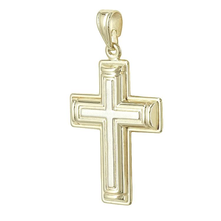 Σταυρός Βάπτισης Ανδρικός Σε Κίτρινο Χρυσό 9 Καρατίων ST1827