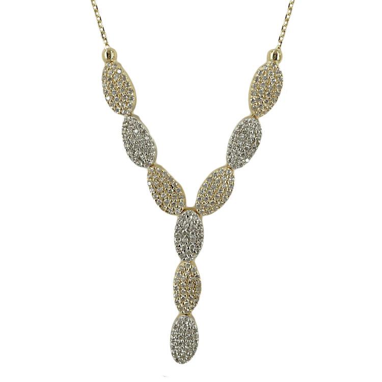 Κίτρινο Χρυσό Κολιέ με Signity Stones Κ14 KL364