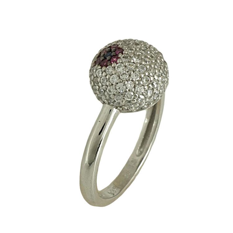 Λευκόχρυσο Δαχτυλίδι Chevalier Κ14 DX485