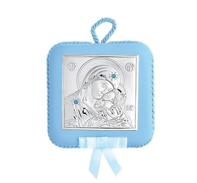 Princelino Ασημένια Παιδική Εικόνα Κούνιας για Αγόρι MA/DM605-LC